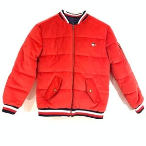 Tommy Hilfiger Girl Puffer Jacket 12/14 Large Red